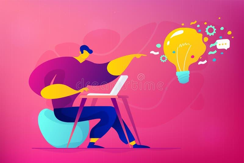 Illustration de commercialisation de vecteur de concept de médias sociaux illustration de vecteur
