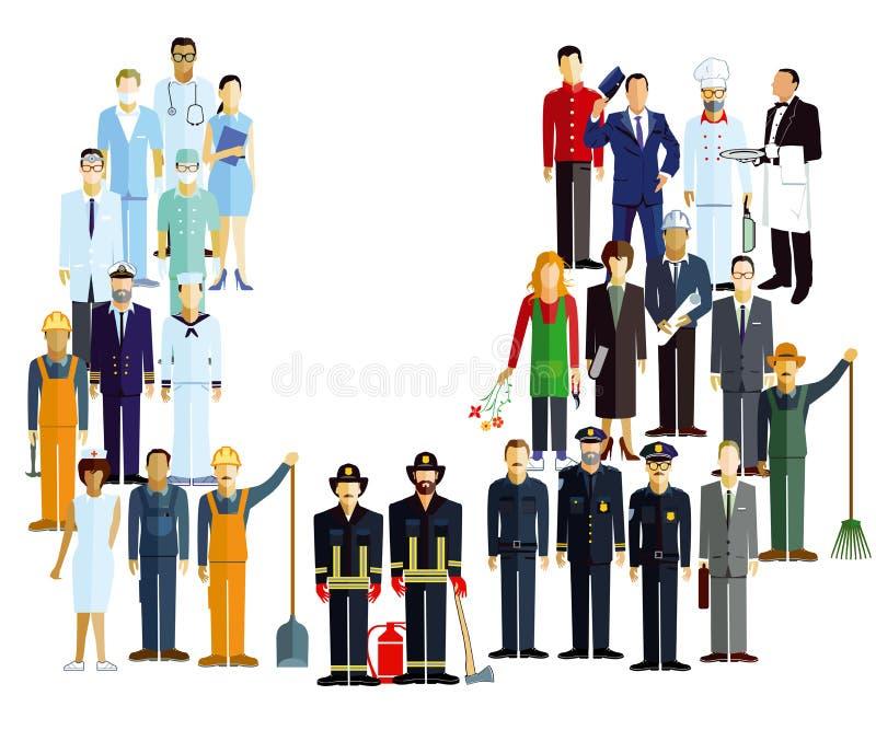 Illustration de composé de profession illustration stock
