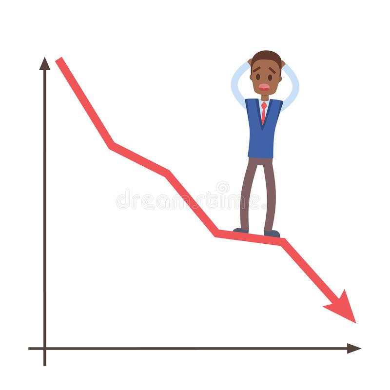 illustration de concept de crise financière illustration libre de droits