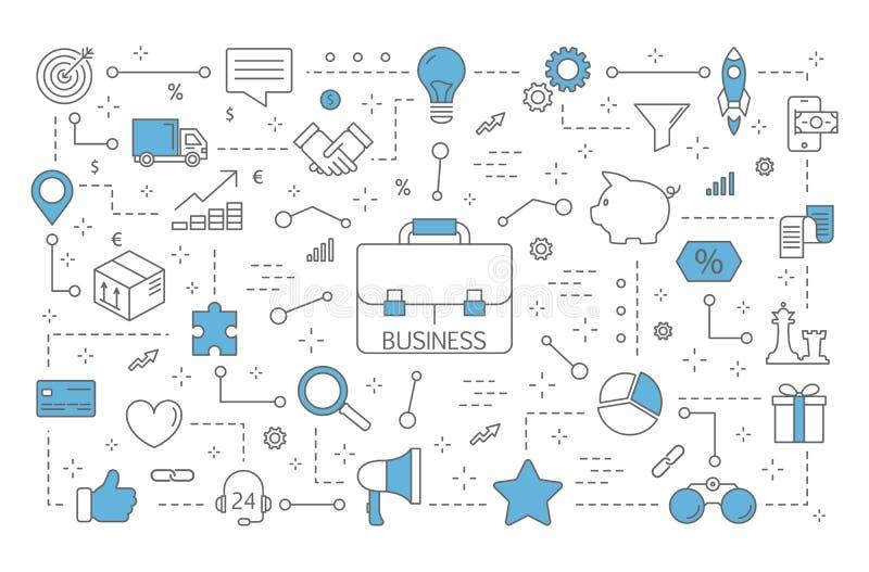 Illustration de concept d'affaires illustration libre de droits