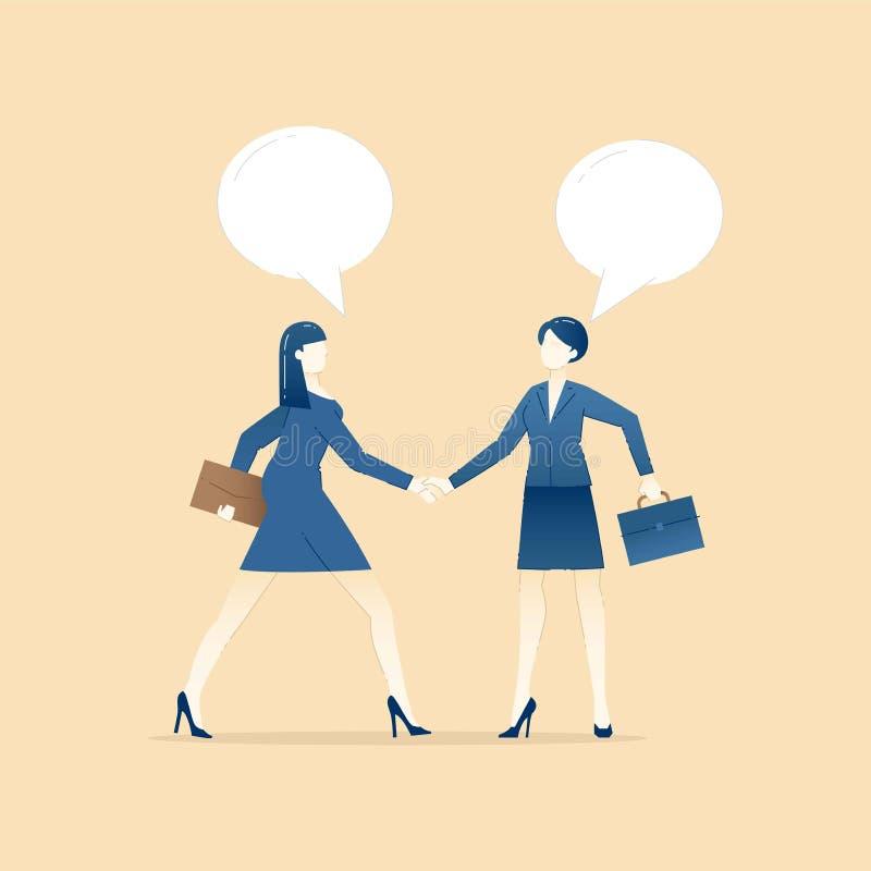 Illustration de concept d'affaires d'accord d'affaires illustration libre de droits