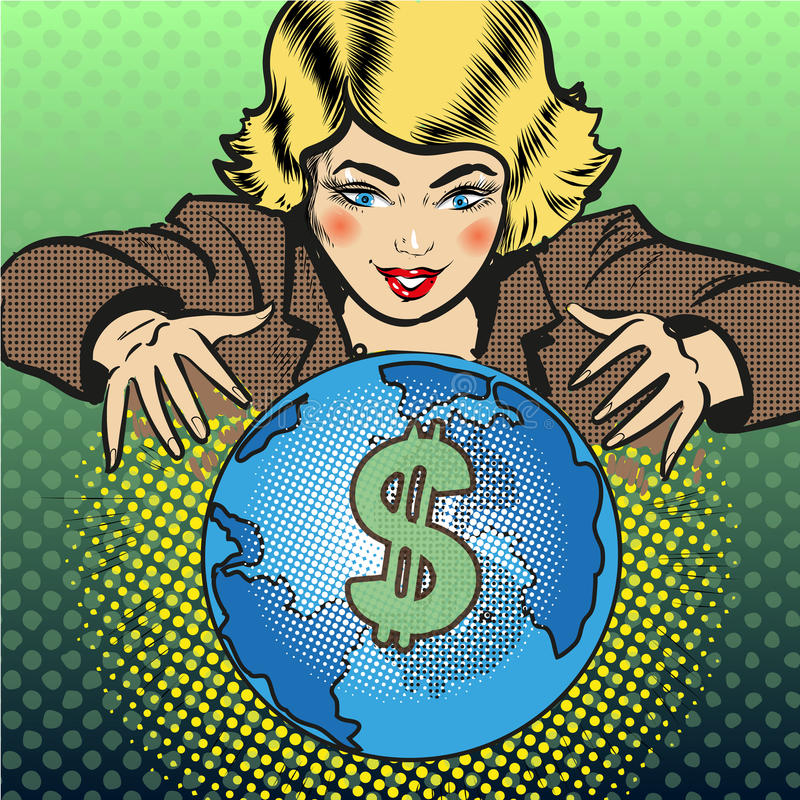 Illustration de concept d'affaires globales d'art de bruit de vecteur illustration stock