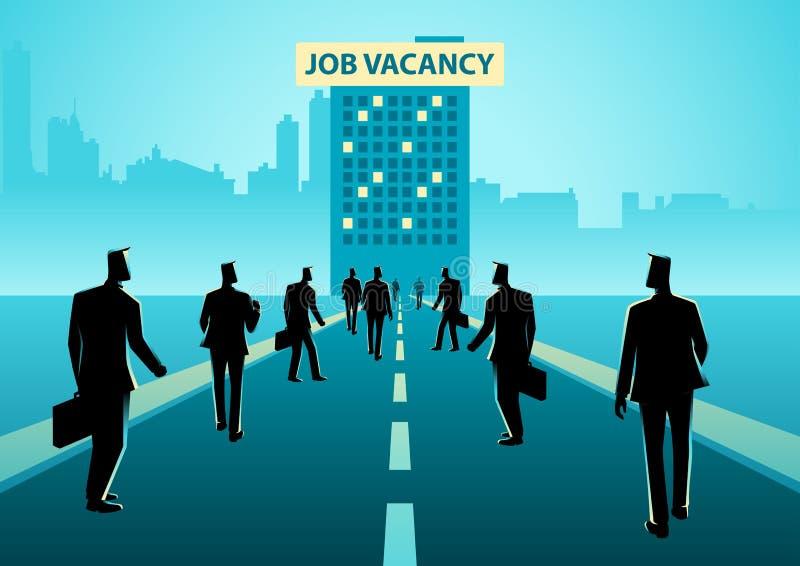 Illustration de concept d'affaires pour l'offre d'emploi illustration libre de droits
