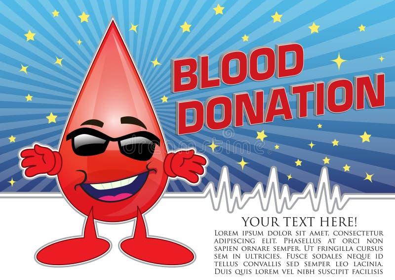 Illustration de concept d'affiche de donation de sang illustration de vecteur