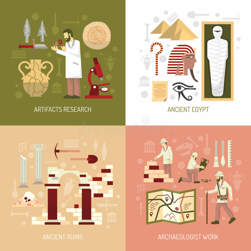 Illustration de concept d'archéologie illustration libre de droits