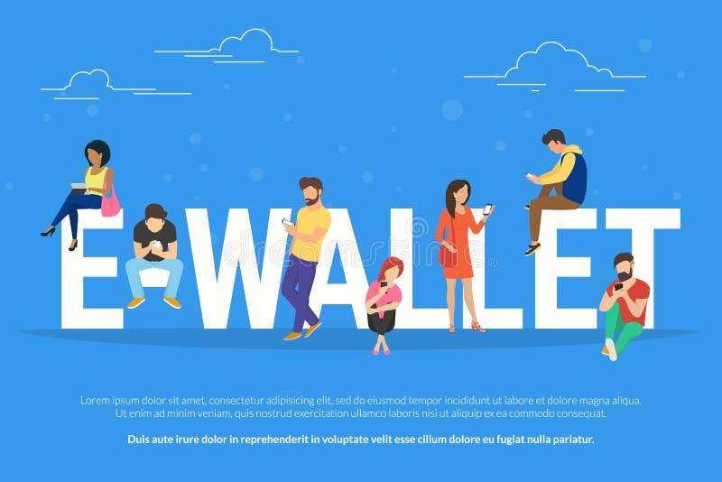 illustration de concept d'E-portefeuille illustration de vecteur