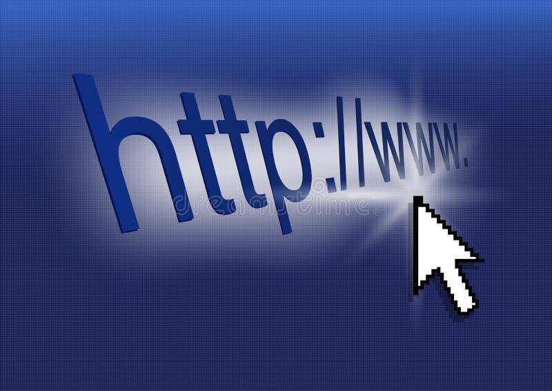 Illustration de concept d'Internet avec Blue Screen illustration de vecteur