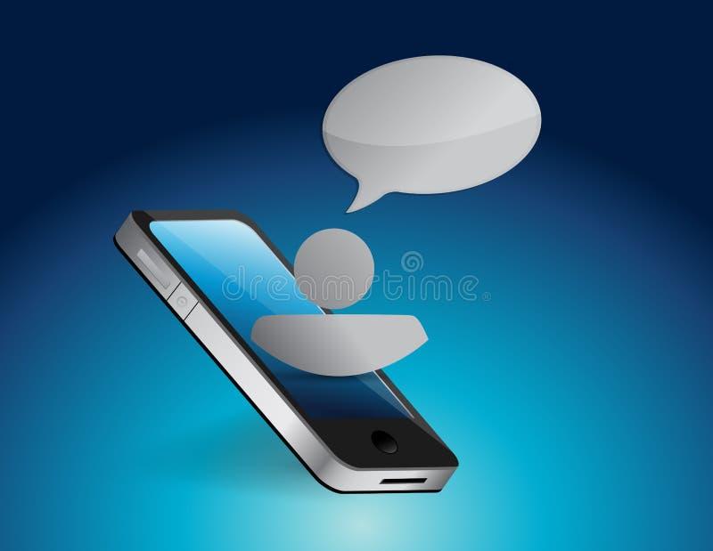 Illustration de concept de communication de téléphone illustration de vecteur