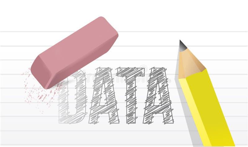 Illustration de concept de données d'effacement illustration stock