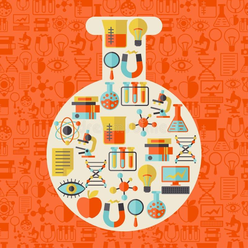 Illustration de concept de la Science dans la forme du tube illustration stock