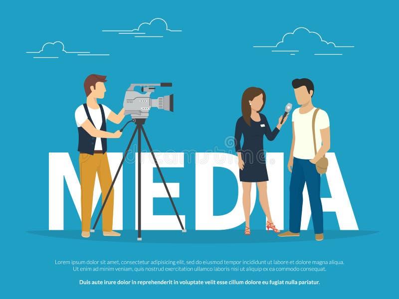 Illustration de concept de médias illustration de vecteur
