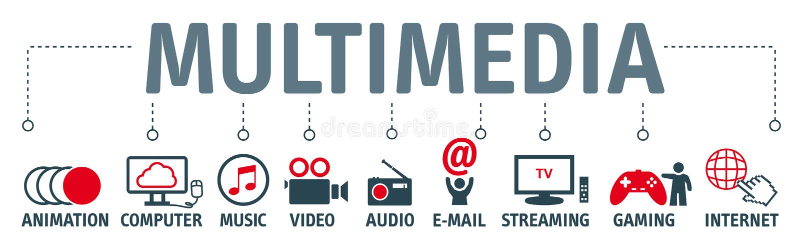 Illustration de concept de multimédia illustration stock
