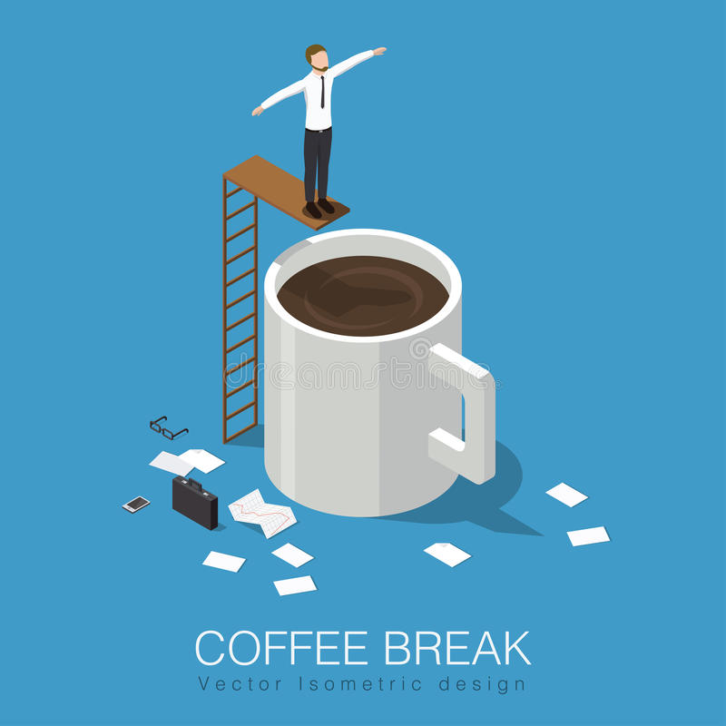 Illustration de concept de pause-café illustration libre de droits