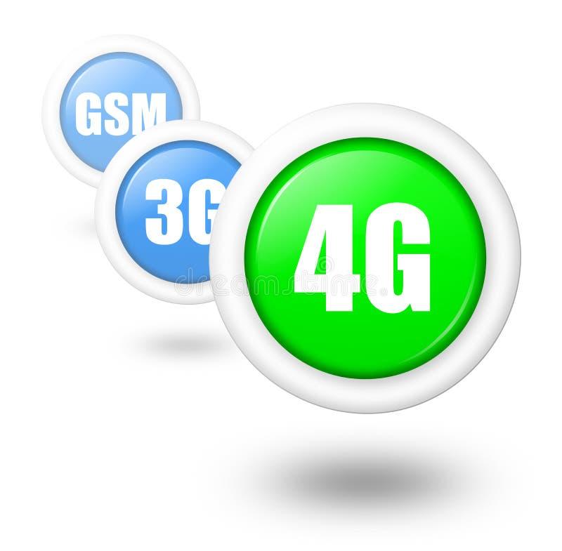 illustration de concept de progrès de la télécommunication 4G illustration de vecteur