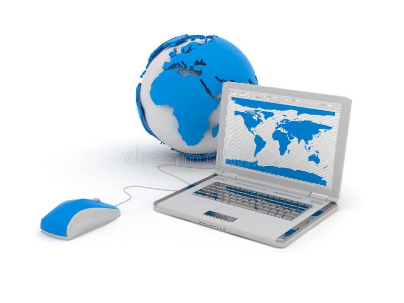 Illustration de concept de réseau global illustration stock