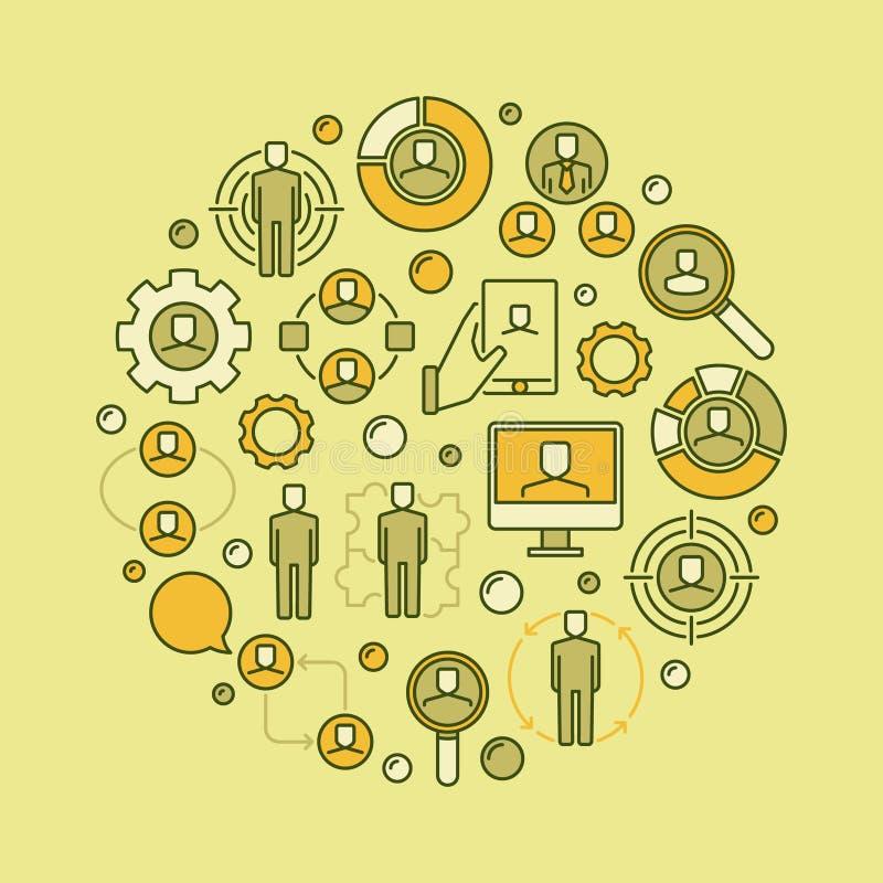 Illustration de concept de ressources humaines illustration libre de droits