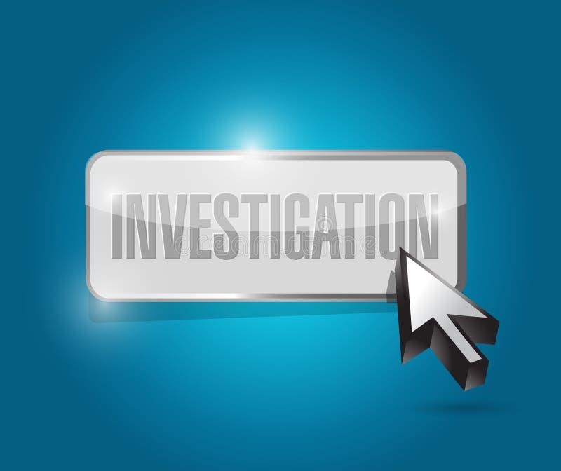 illustration de concept de signe de bouton d'enquête illustration stock