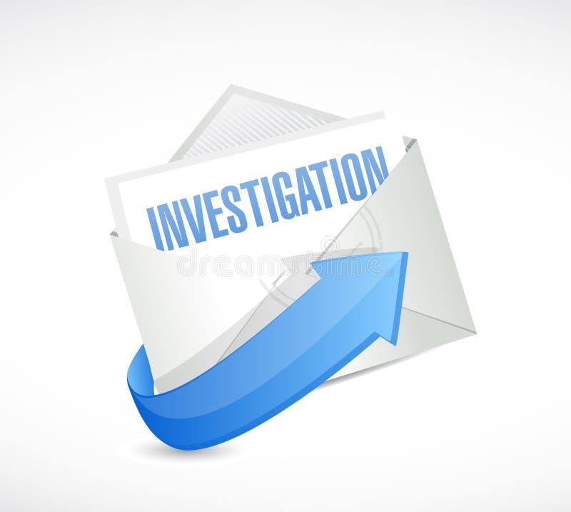 illustration de concept de signe de courrier d'enquête illustration libre de droits