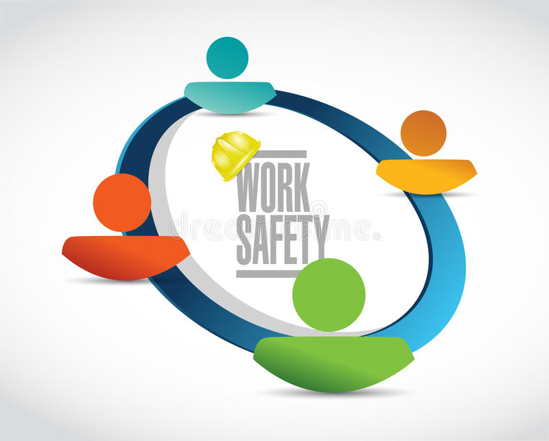 illustration de concept de signe de diagramme d'équipe de sécurité de travail illustration de vecteur