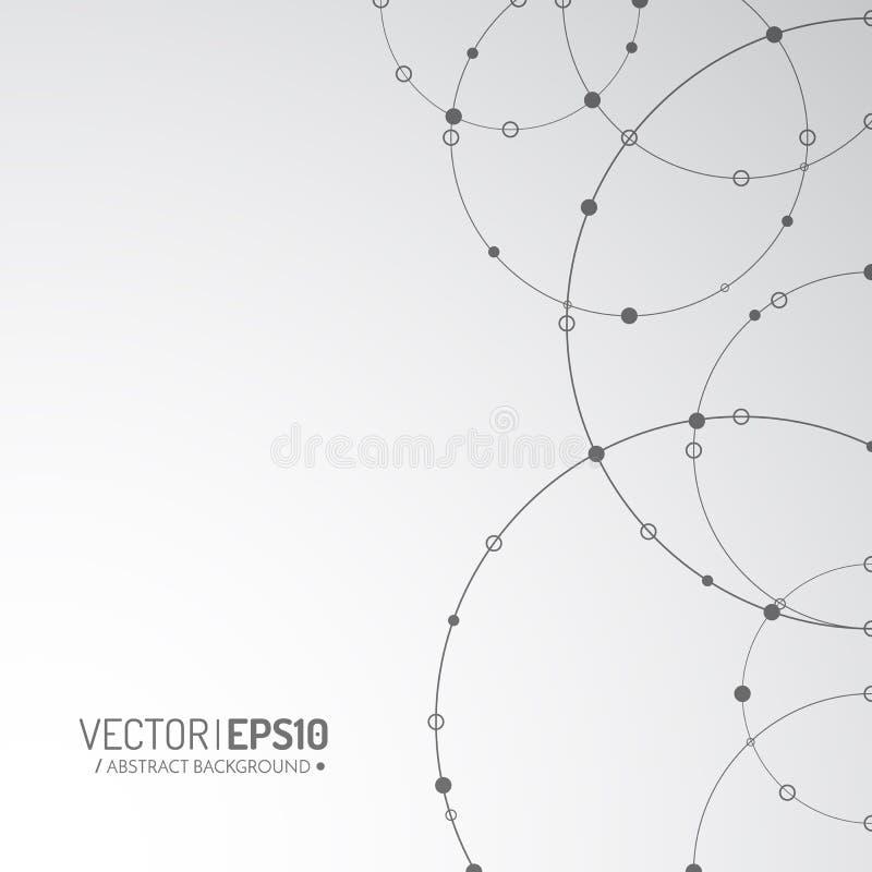Illustration de concept de technologie de vecteur Lignes et points reliés Signe de réseau illustration de vecteur