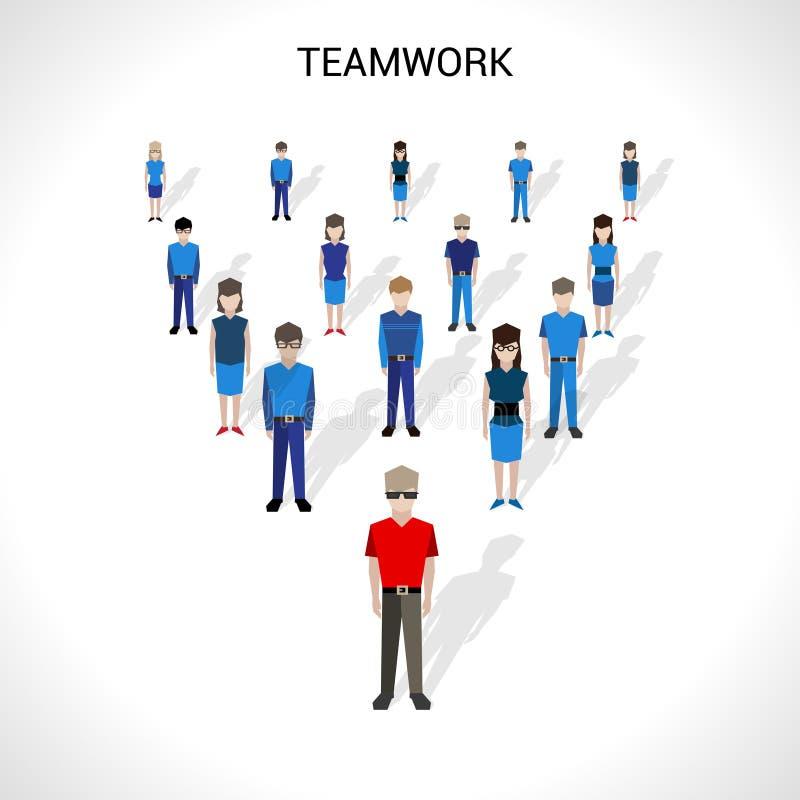 Illustration de concept de travail d'équipe illustration libre de droits