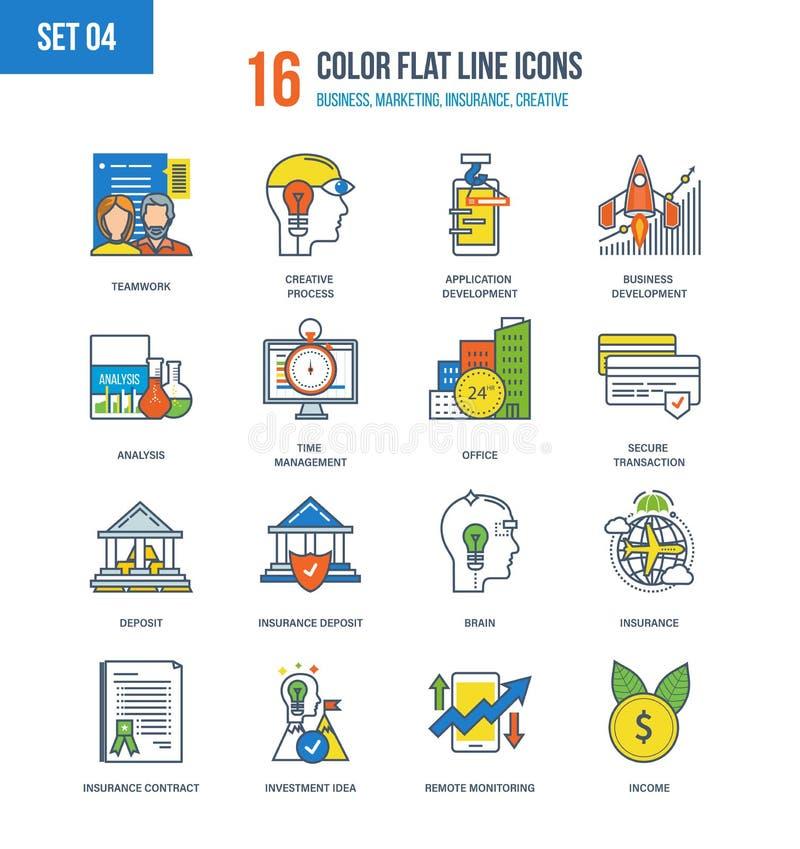 Illustration de concept des affaires, du marketing, de l'assurance, du commerce et de créatif illustration de vecteur
