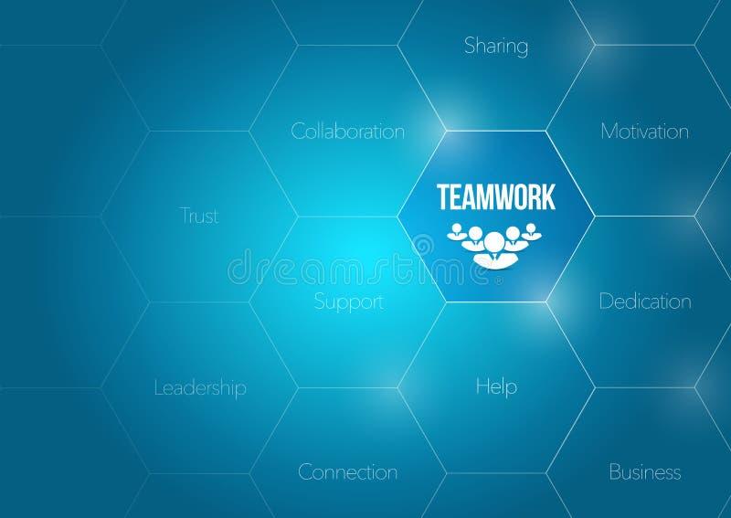 illustration de concept de diagramme d'affaires de travail d'équipe illustration libre de droits
