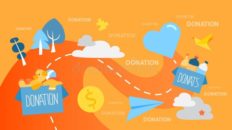 Illustration de concept de donation illustration libre de droits