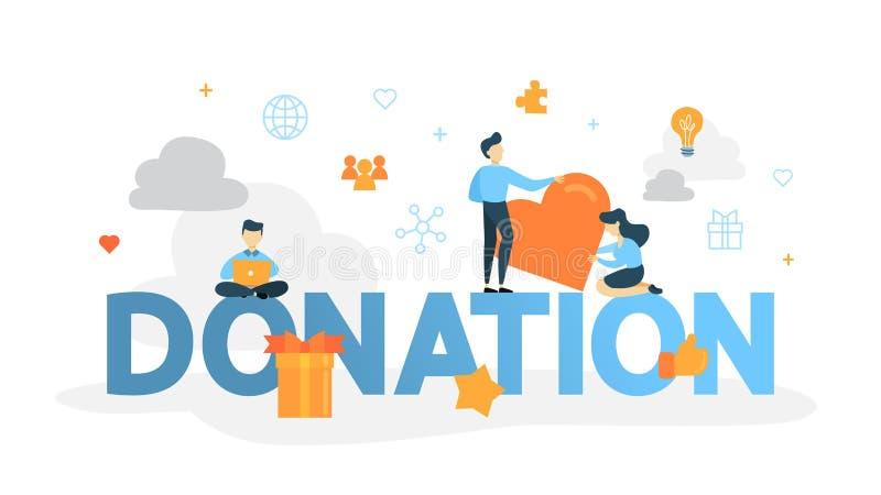 Illustration de concept de donation illustration de vecteur