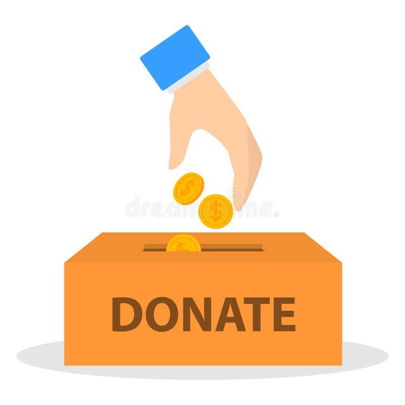 Illustration de concept de donation d'argent illustration libre de droits