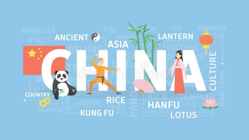 Illustration de concept de la Chine illustration de vecteur