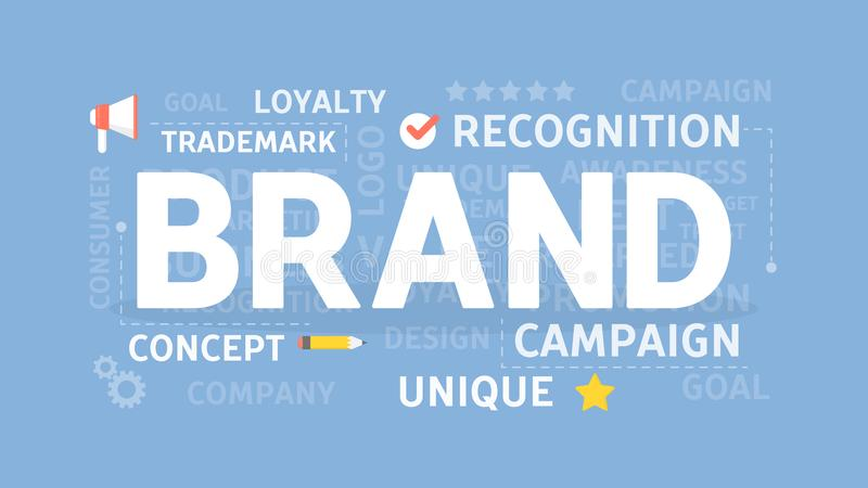 Illustration de concept de marque illustration stock