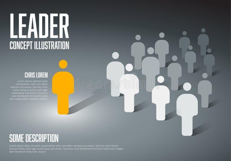 Illustration de concept de meneur d'équipe illustration stock