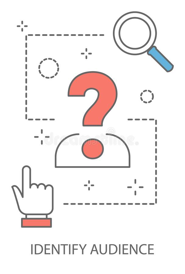 Illustration de concept de public cible illustration de vecteur