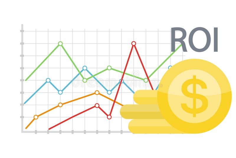 Illustration de concept de ROI illustration stock