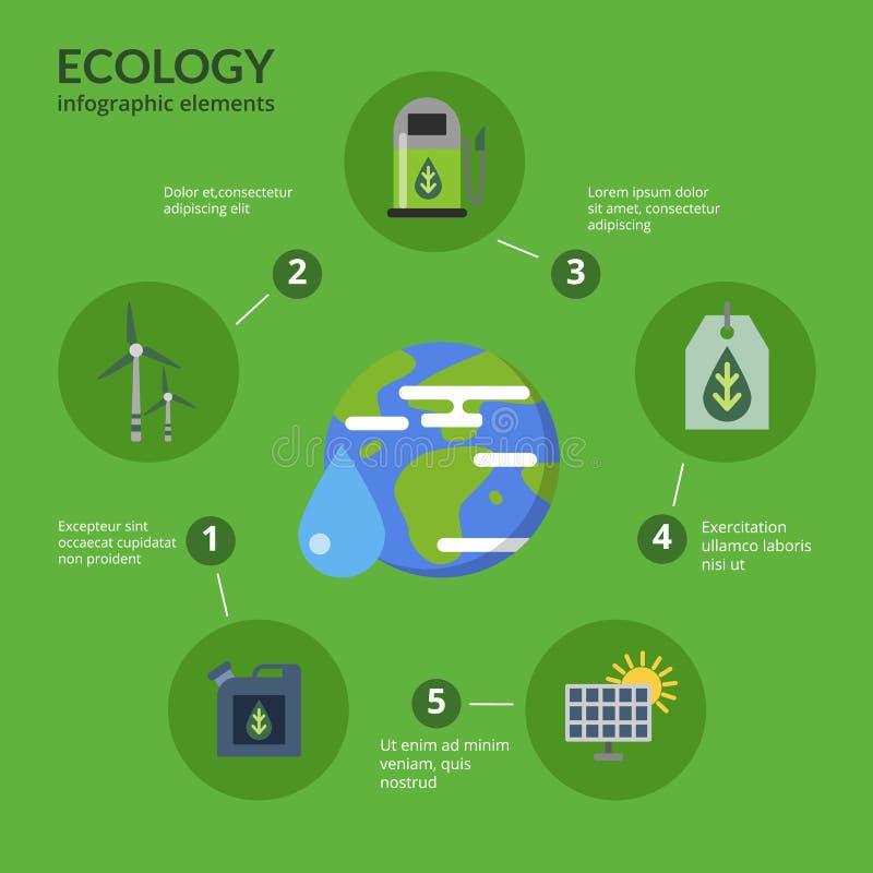 Illustration de concept de vecteur de carburant d'eco infographic illustration libre de droits