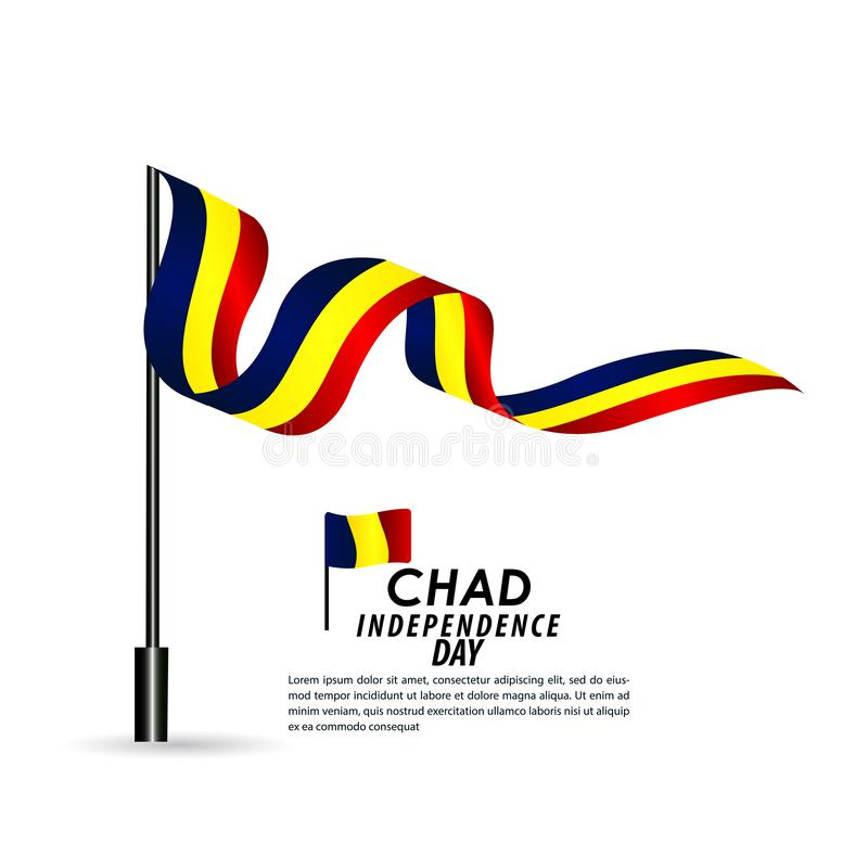 Illustration de conception de calibre de Chad Independence Day Celebration Vector illustration libre de droits