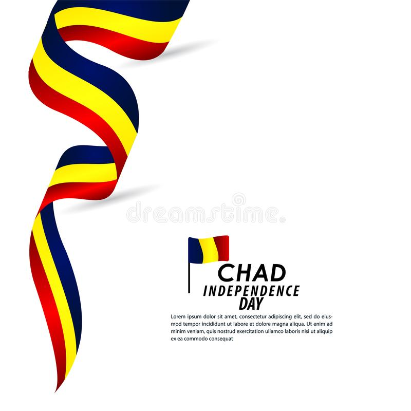 Illustration de conception de calibre de Chad Independence Day Celebration Vector illustration de vecteur