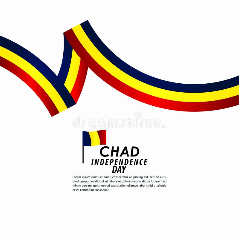 Illustration de conception de calibre de Chad Independence Day Celebration Vector illustration stock
