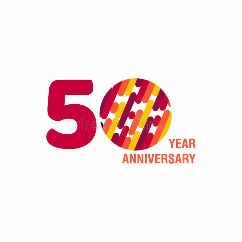 Illustration de conception de calibre de vecteur d'anniversaire de 50 ans illustration de vecteur