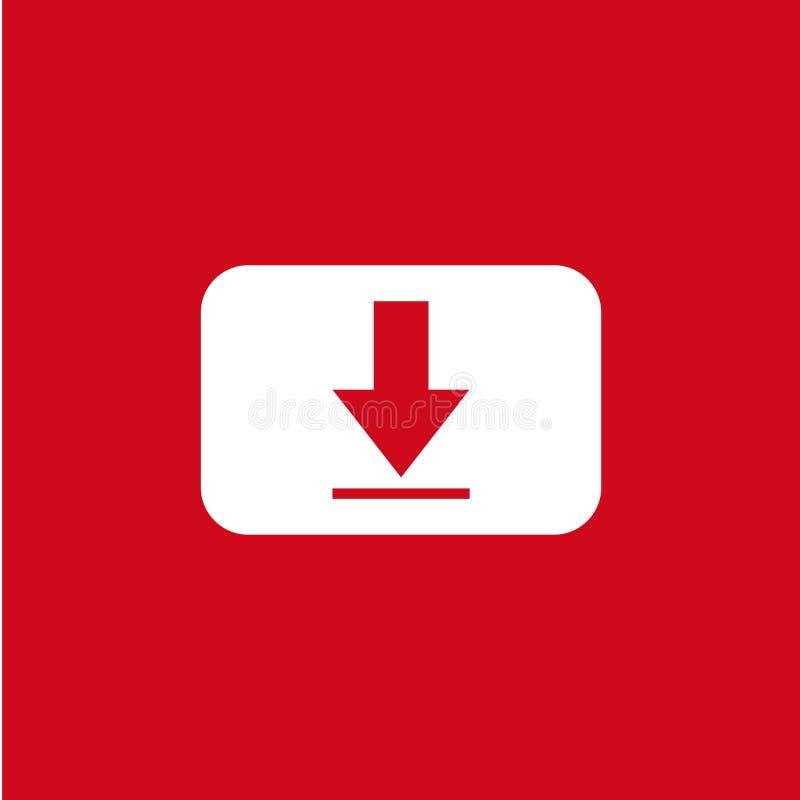 Illustration de conception de calibre de vecteur d'icône de téléchargement de bouton illustration libre de droits