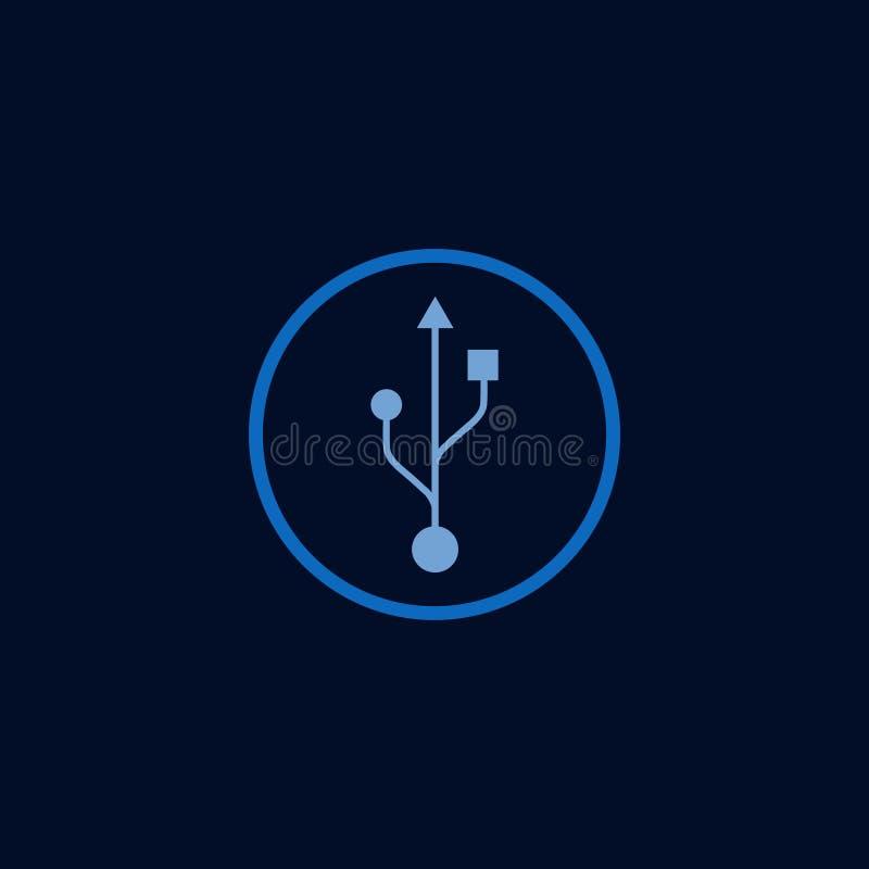Illustration de conception de calibre de vecteur d'USB de bouton illustration libre de droits