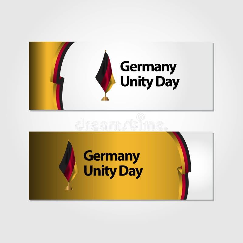 Illustration de conception de calibre de vecteur de drapeau de jour d'unit? de l'Allemagne illustration libre de droits