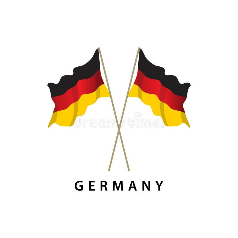 Illustration de conception de calibre de vecteur de drapeau de l'Allemagne illustration libre de droits