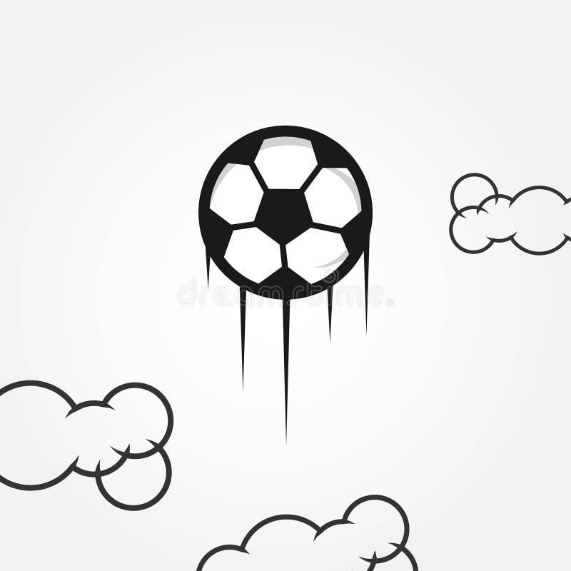 Illustration de conception de calibre de vecteur du football illustration stock