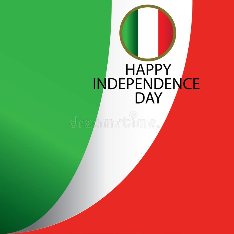 Illustration de conception de calibre de vecteur de Jour de la Déclaration d'Indépendance de l'Italie - vecteur illustration de vecteur