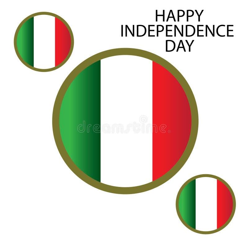 Illustration de conception de calibre de vecteur de Jour de la D?claration d'Ind?pendance de l'Italie - vecteur illustration de vecteur