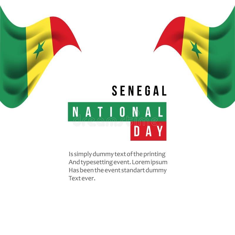 Illustration de conception de calibre de vecteur de jour national du Sénégal illustration de vecteur