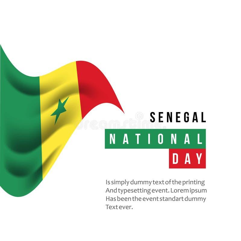 Illustration de conception de calibre de vecteur de jour national du Sénégal illustration stock