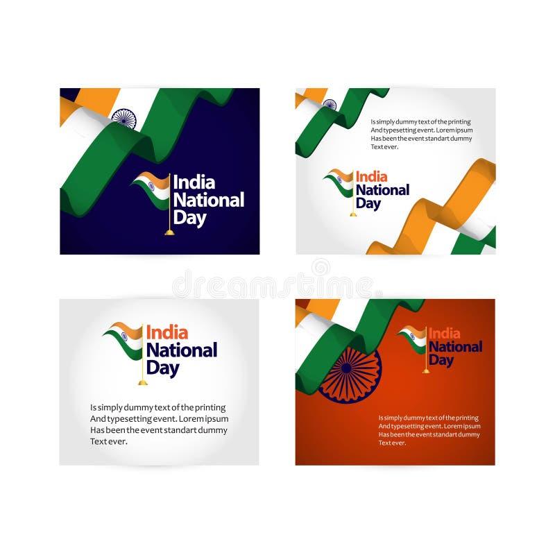 Illustration de conception de calibre de vecteur de jour national de l'Inde illustration stock